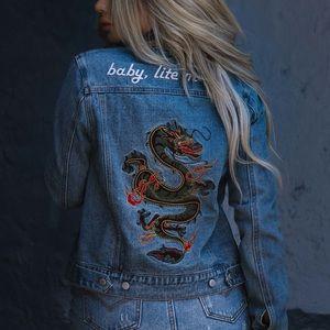 Jackets & Blazers - Dragon Denim Jacket